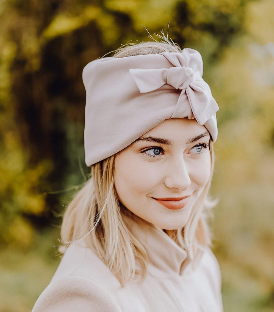 Macherei Premium Knotbund Stirnband Blush