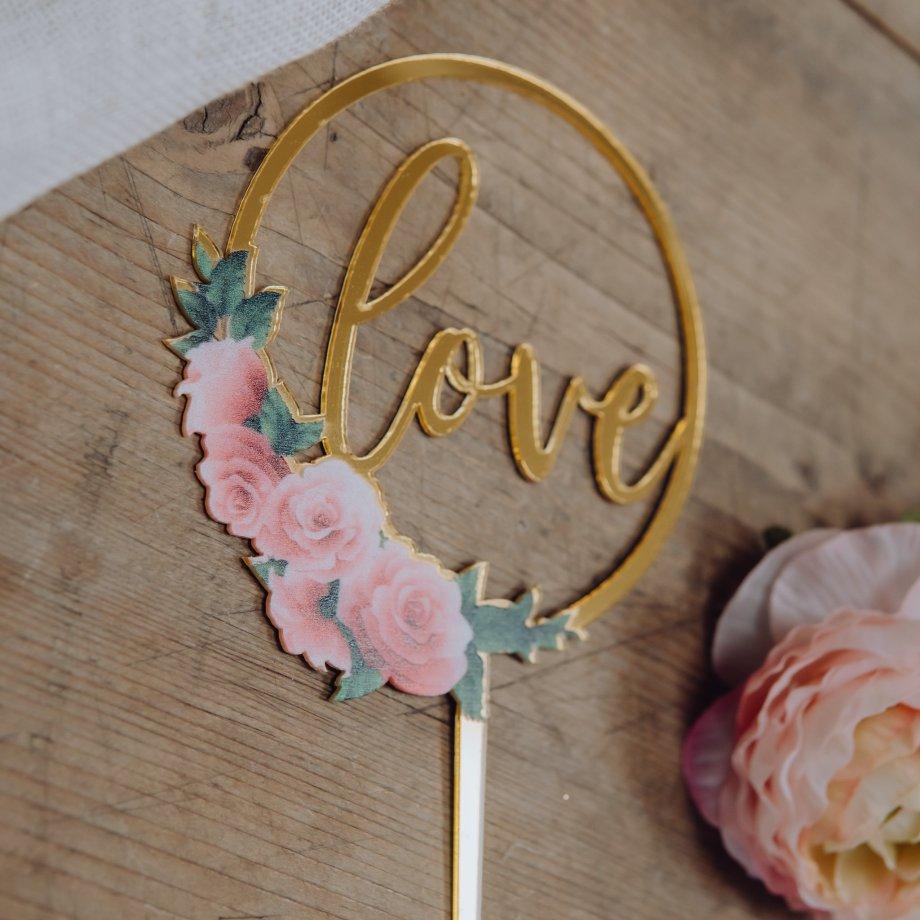 Caketopper Love Roses