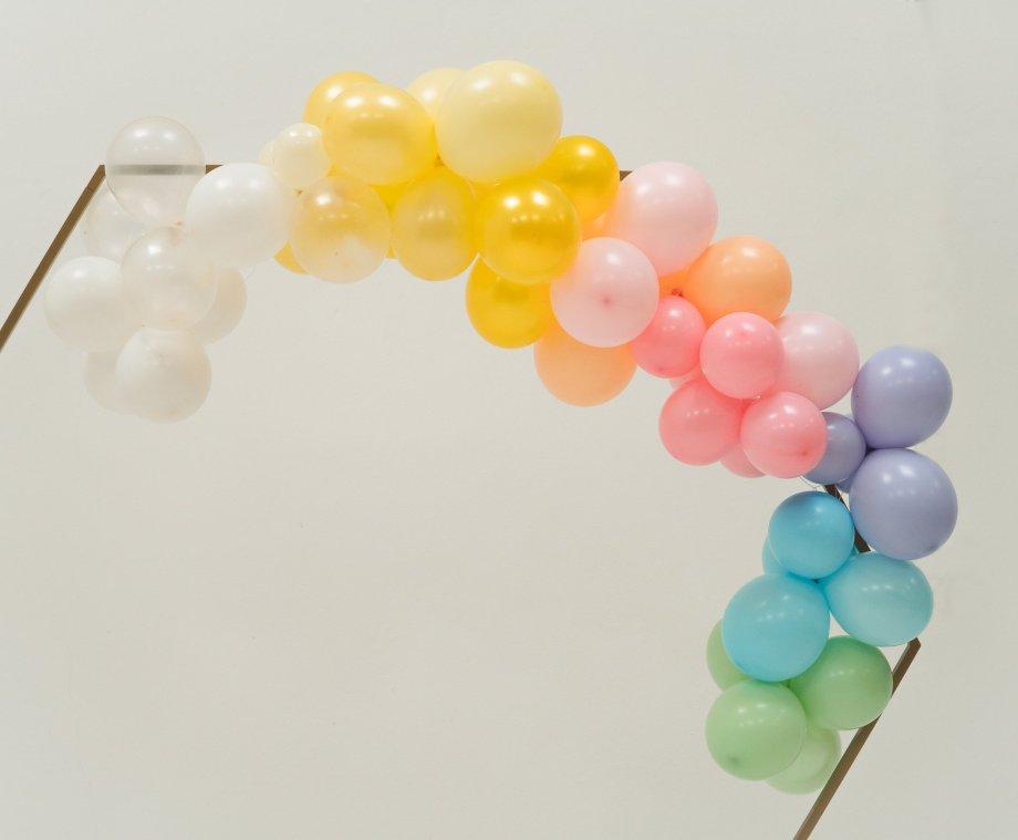 Ballongirlande Pastell Regenbogen
