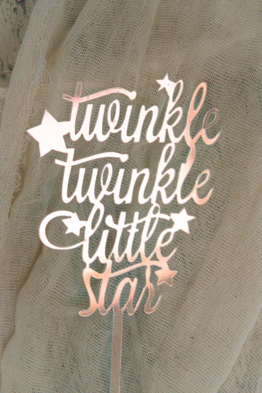 Caketopper Acryl Twinkle Twinkle little star irisierend