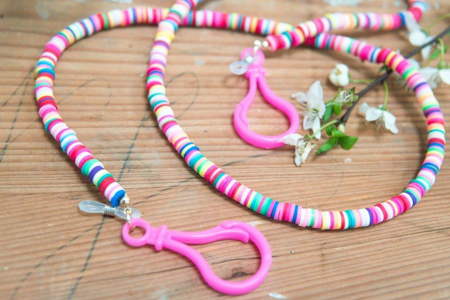 Brillenkette Maskenkette Candy Rings Neon