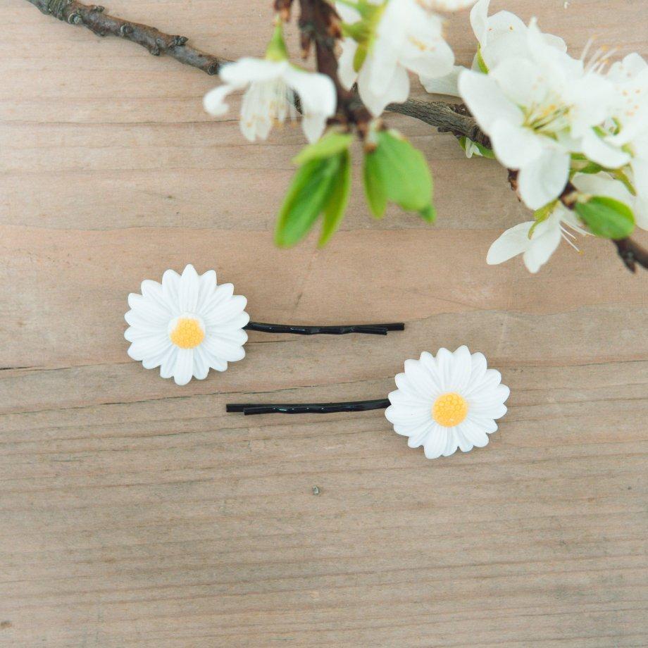 """Schiebespangen """"Daisy"""" mit süßem Gänseblümchen"""