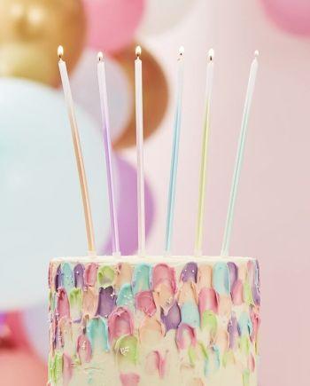 Kerze Pastellombré
