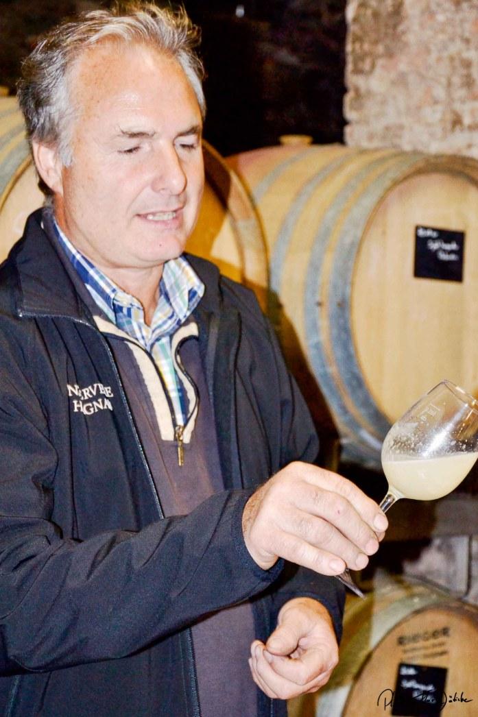 Spitzenweine werden das: Der Chef der Weinbaugenossenschaft in Hagnau Karl Megerle. Foto: Flora Jädicke