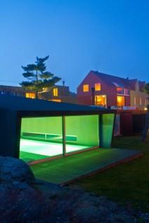Schwimmbad von Außen. Foto: Hotel