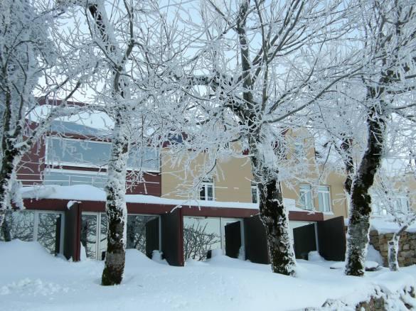 Winter in der Serra da Estreala, direkt vor dem Hotel. Foto: Casa das Penhas Douradas