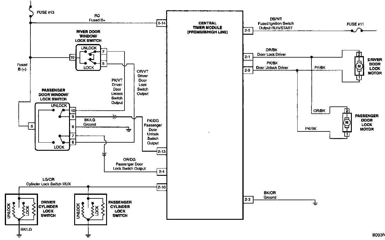 Power Door Lock Relay Location