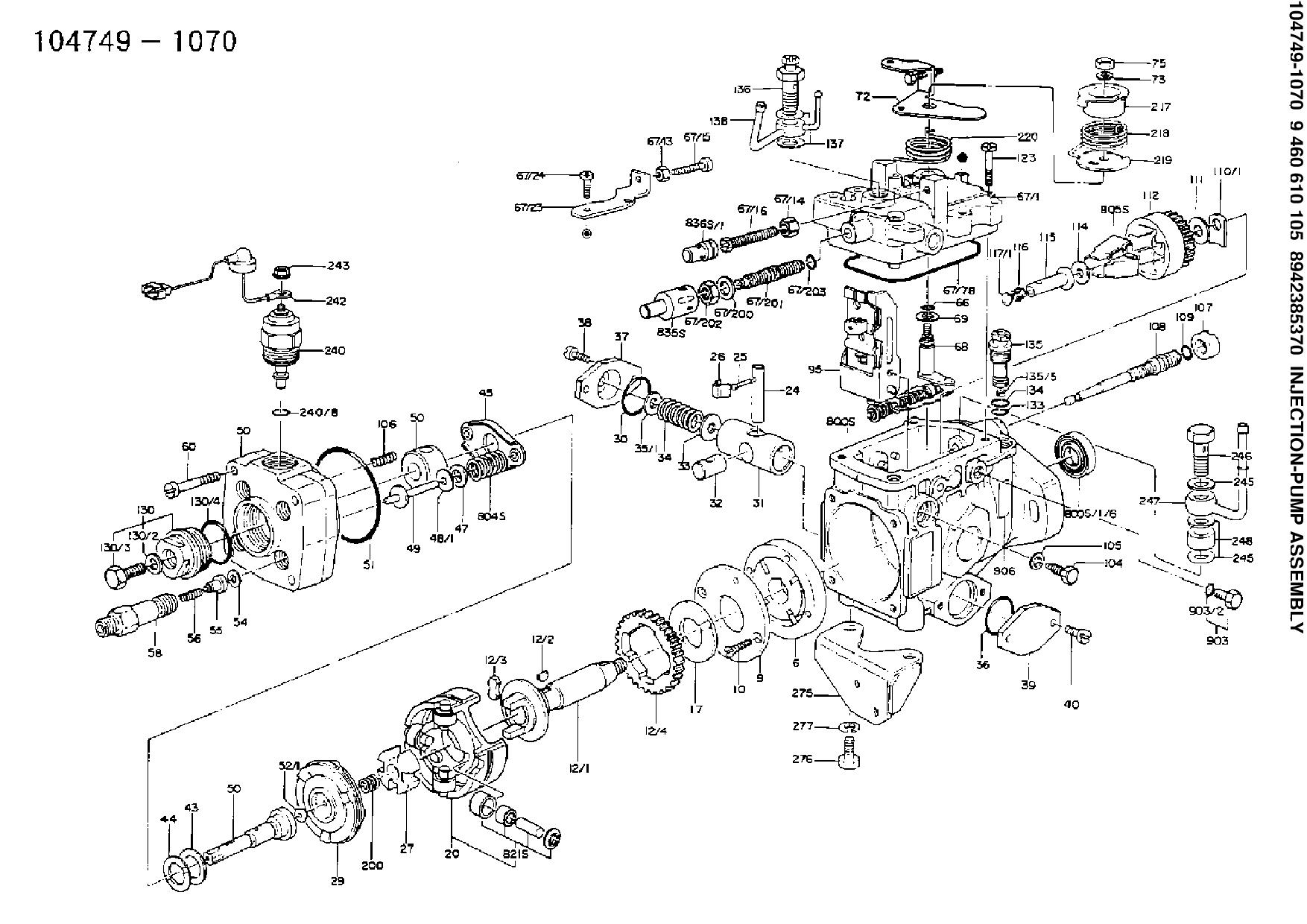 V Injector Pump Diagram