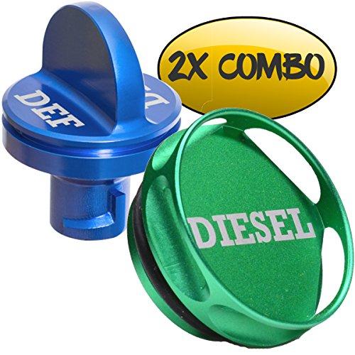 Billet Aluminum GAS Cap /& DEF Cap Kit for Dodge Ram Diesel /'13-17/' Magnetic