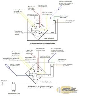 73L IDI Manual Glow Plug ControllerSwitch Wiring