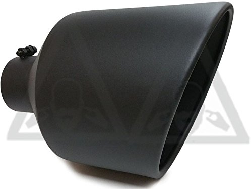 """High Temperature Black Diesel Bolt On Exhaust Tip Pipe 4/"""" Inlet 10/"""" Out 15/"""" Long"""