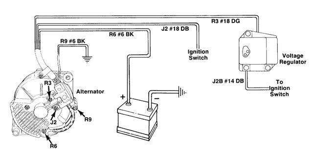 voltage regulator wiring on 1974 chevy 2500  wiring diagram
