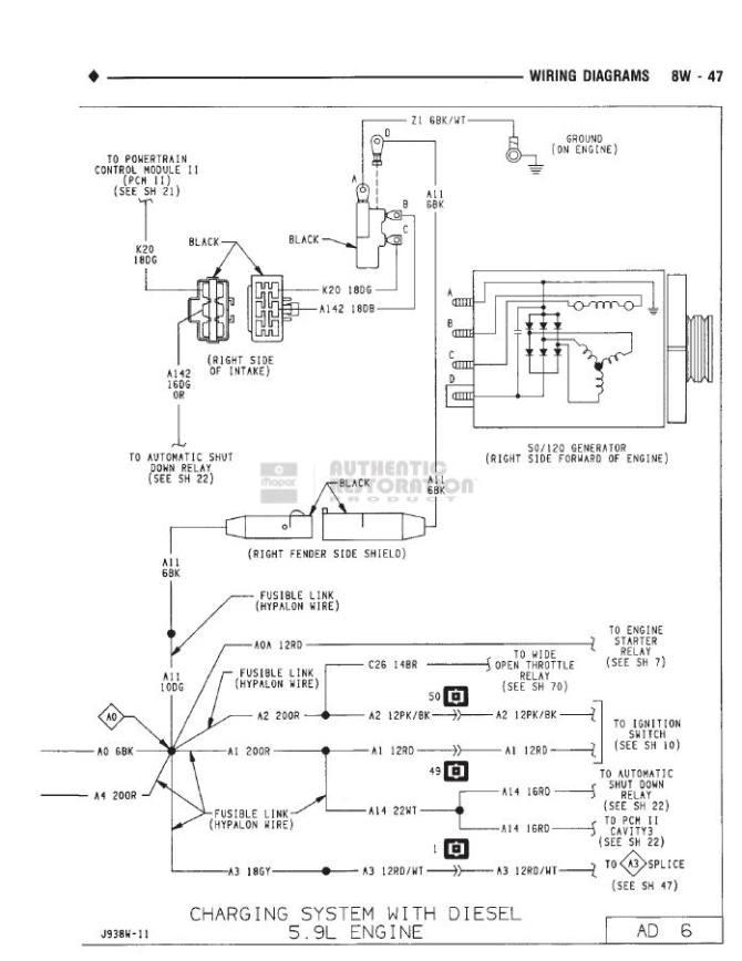 1992 dodge power ram alternator wiring  save wiring