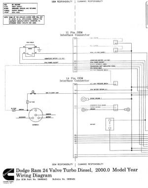 Wiring diagrams for 1998 24v ECM  Dodge Diesel  Diesel