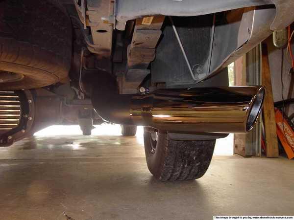 black chrome exhaust tip dodge diesel