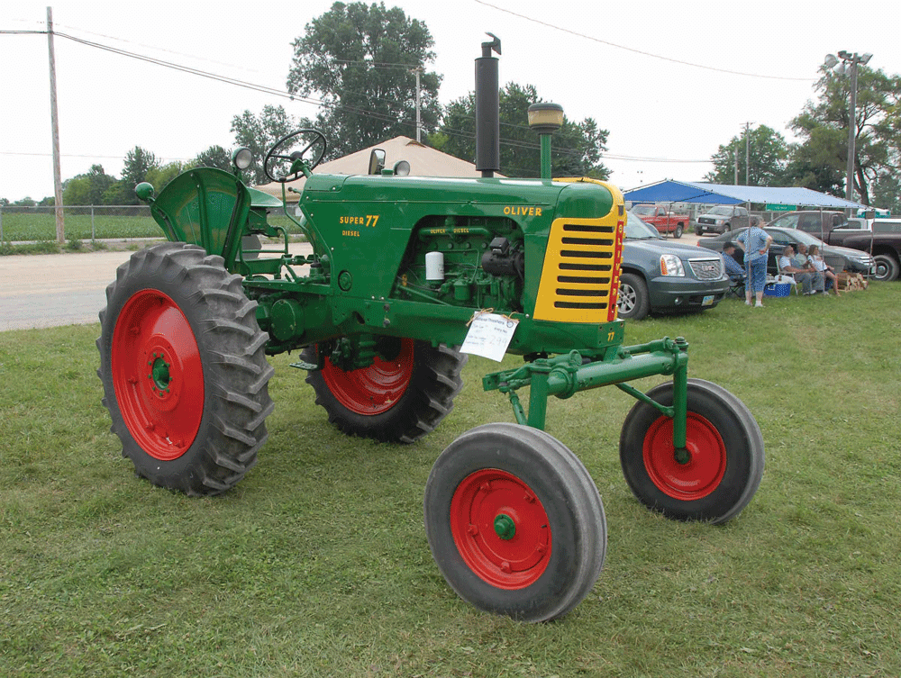 Tractor Talk: 1957 Oliver Super 77 Hi-Crop: Ollie With A Lift on