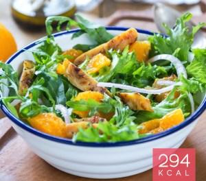 Salada de frango com laranja