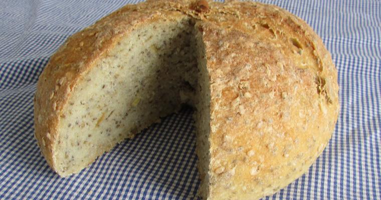 Pan de maíz con semillas