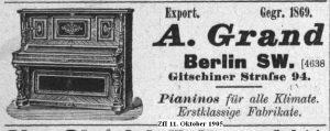 Grand, Anzeige 1905