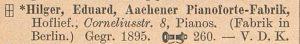 Hilger Aachen 1912