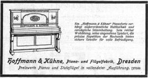 Hoffmann & Kühne, Anzeige 1921
