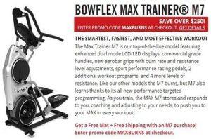 The New Bowflex Max Trainer M7 Free Shipping
