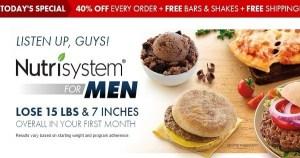 Nutrisystem for Men – Best Diet Food Program for Guys!