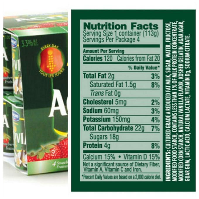 Activia Light Strawberry Yogurt Nutrition Facts Centralroots Com