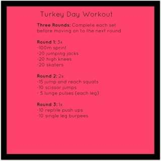 Turkey Day Workout