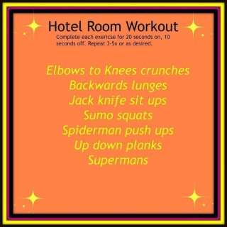 Hotel Room Workout