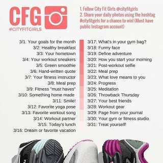 March Photo Challenge by: City Fit Girls