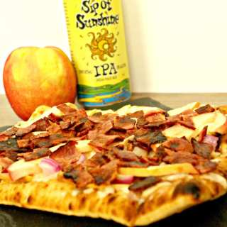 Apple, Cheddar, and Turkey Bacon Pizza