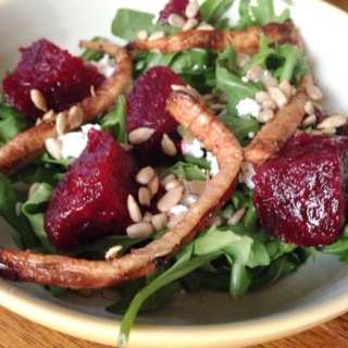 Parsnip, Beet, and Goat Cheese Salad