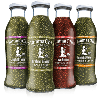 Introducing Mamma Chia's new Chia and Greens Beverages