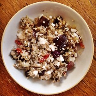 A Vegan and Gluten Free Greek Quinoa Salad