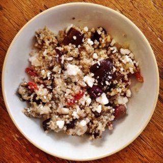 A Vegan and Gluten Free Greek Quinoa Salad