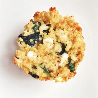 Spinach and Feta Quinoa Muffins