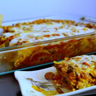 Spiralized Vegetable Polenta Lasagna