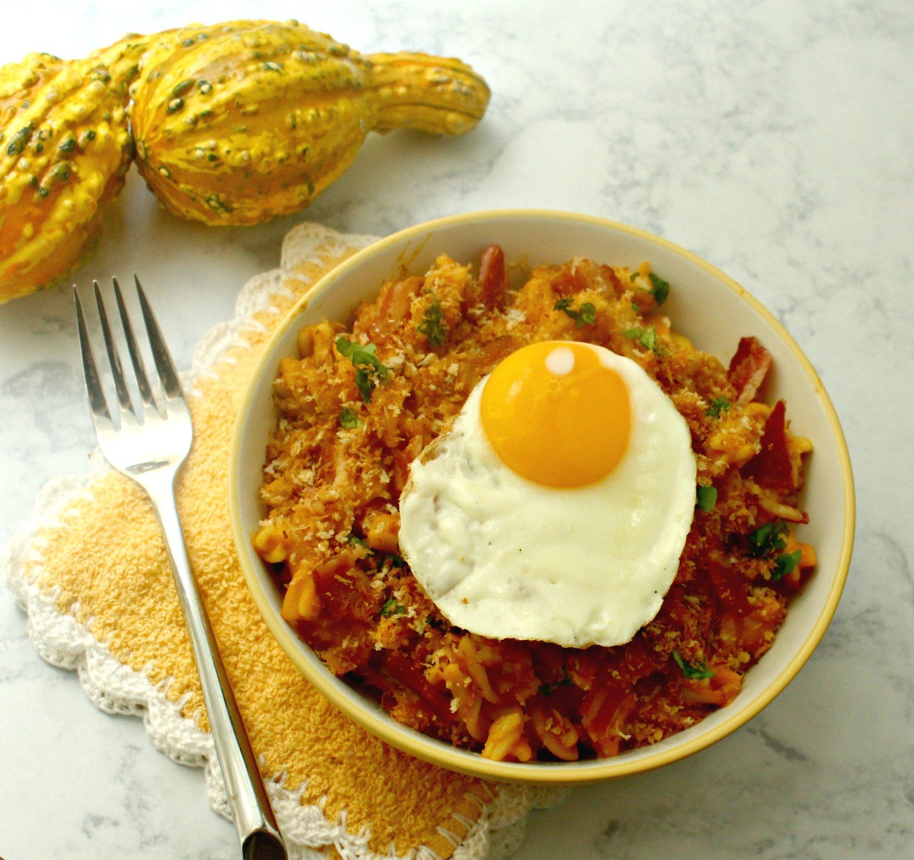 pumpkin-carbonara-with-fried-egg