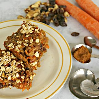 Healthy Carrot Cake Bars