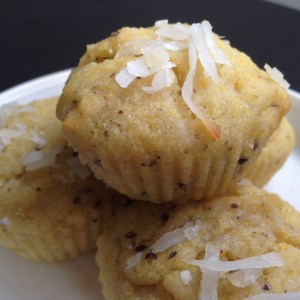 Vegetarian, sides, plant-based, egg-free, dairy-free Vegan Coconut Corn Mini-Breads recipe