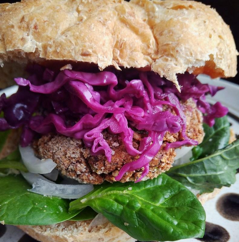 Vegan, Vegetarian, Plant-based, dairy-free, egg-free, nut-free, Sweet Potato Kale Bean Patty recipe