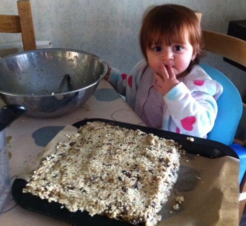 No fat, no sugar, super healthy oaty bars