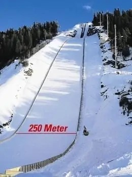 The large ski flying hill in Vikersund