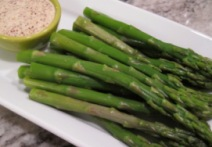Blanched Asparagus with Orange-Ginger Mayonnaise Dip (Diabetic Recipe)