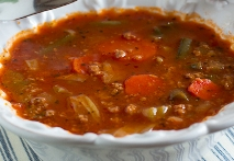 Spicy Ground Turkey with Tomato Sauce (Cabbage Soup Diet Recipe)