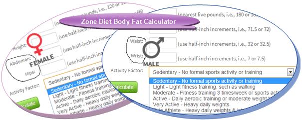 zone-diet-body-fat-calculator