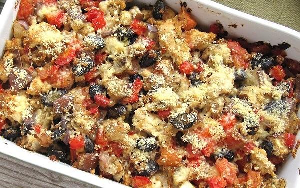 Turkey Eggplant Black Bean Casserole (The Zone Diet Recipe)