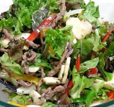 Asian Tamari Sauce Beef Salad (Atkins Diet Phase 1 Recipe)