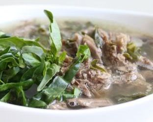 Beef Soup with Mushroom & Swiss Chard (Dukan Diet PV Cruise Recipe)